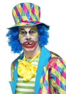 fausses dents, dents pourries déguisement, dentier de déguisement, fausses dents accessoire, fausses dents halloween, dents halloween, Dentier de Clown Zombie