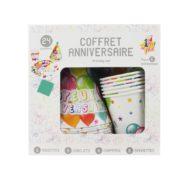 kit anniversaire, vaisselle anniversaire, coffret vaisselle anniversaire Coffret Anniversaire, x 6