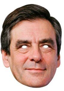 masque célébrités carton, masque politique carton, masque politique déguisement, masque célébrité déguisement, masque françois fillon, masque françois fillon déguisement, masques déguisements, masque politique photo Masque de François Fillon