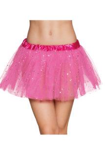 tutu paillettes, tutus jupons déguisement, déguisement tutus, jupons tutus en tulle, tutu déguisement danseuse, tutu rose, Tutu Rose Fuchsia à Paillettes, en Tulle