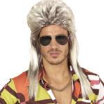 perruque mulet homme déguisement, perruque années 80 déguisement, accessoire déguisement années 80, accessoire disco, perruque blonde homme années 80, perruque pas cher déguisement, perruque homme déguisement, perruque mulet Perruque Disco 70 Mulet, Blonde