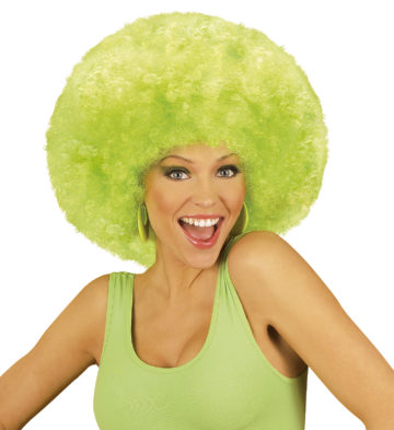 perruque disco, perruque afro, perruque afro disco, perruque de clown, perruque déguisement pas cher paris, perruque afro verte, perruque verte Perruque Afro Disco, Verte