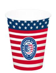 gobelet américain, gobelet drapeau américain, gobelet états unis, décorations états unis, décos drapeau américain, vaisselle drapeau américain, décos états unis Thème Etats Unis, Gobelets XL Drapeau Américain
