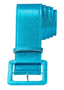 ceinture paillette, ceinture déguisement, ceinture disco, accessoire disco, ceinture bleue, Ceinture Brillante, Bleu Turquoise