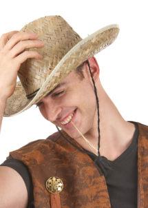 chapeau de paille cowboy, chapeau de paille déguisement, chapeau en paille pas cher paris, chapeau de cowboy en paille, chapeau de paille, Chapeau de Cowboy Paille