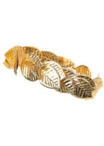 couronne de laurier, déguisement romain, déguisement romaine, couronne de feuilles de laurier romaine, déguisement jules césar, déguisement cleopatre, couronne de laurier, Couronne de Lauriers Dorés