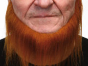 fausse barbe, fausses moustaches, postiche, barbe postiche, fausse barbe réaliste, fausse barbe de déguisement, barbe de nain, barbe collier, barbe rousse Barbe, Luxe, Collier Barbe Rousse