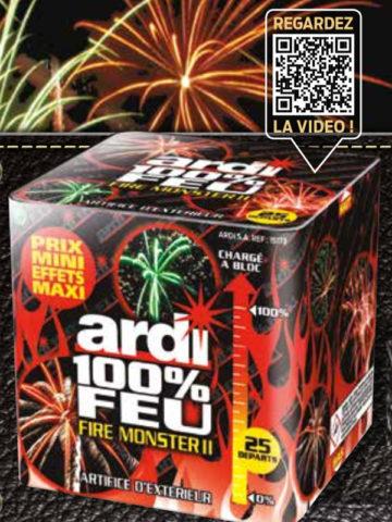 feux d'artifice automatiques, achat feux d'artifice paris, feux d'artifices compacts, feux d'artifices ARDI, feux d'artifice pas cher, feux d'artifices pour particuliers Feux d'Artifices Compacts, 100% Fire Monster 2