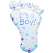 ballon de naissance, ballon bébé fille, ballon hélium, ballon baby shower, ballon gonflage hélium, décoration baby shower Ballon Aluminium, Naissance Bébé Garçon, Pied