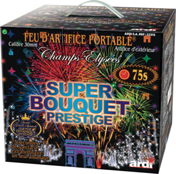 feux d'artifices, feux d'artifice automatiques, achat feux d'artifice paris, feux d'artifices compacts, feux d'artifices pyragric, acheter des feux d'artifice à paris, feux d'artifice pour mariage Feu d'Artifice Automatique, 1mn15, Super Bouquet Prestige