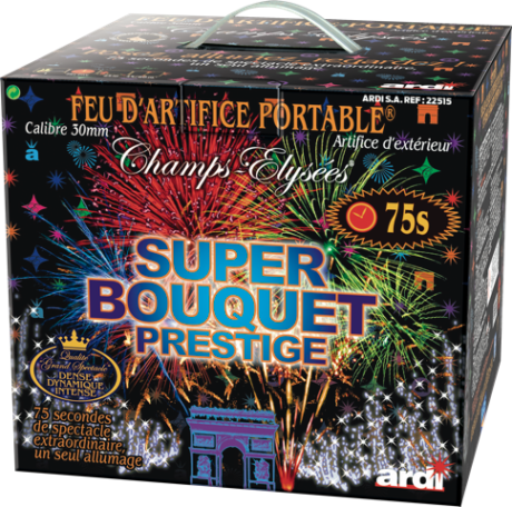 feux d'artifices, feux d'artifice automatiques, achat feux d'artifice paris, feux d'artifices compacts, feux d'artifices pyragric, acheter des feux d'artifice à paris, feux d'artifice pour mariage Feu d'Artifice Automatique, 1mn15, Super Bouquet