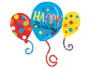 ballon hélium, ballon anniversaire, ballon anniversaire, ballons happy birthday Ballon Aluminium, Anniversaire 3 Ballons