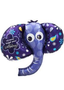 ballon anniversaire, ballons hélium, ballons aluminium, ballon éléphant, ballons pour anniversaire, Ballon Anniversaire Eléphant, en Aluminium