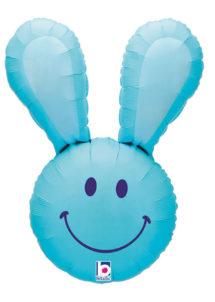 ballon hélium, ballon lapin, ballon aluminium, ballons enfants, Ballon Lapin Bleu, en Aluminium