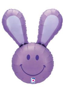 ballon hélium, ballon lapin, ballon aluminium, ballons enfants, Ballon Lapin Parme, en Aluminium