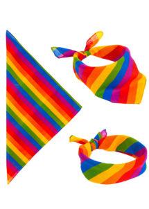 drapeau gay pride, drapeau gaypride, drapeau marche des fiertés, drapeau LGBT, bandana arc en ciel, bandana multicolore, Bandana Multicolore, Arc en Ciel