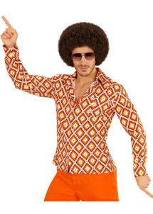 déguisement disco homme, déguisement années 70 femme, chemise disco homme déguisement, déguisement disco homme pas cher, déguisement disco paris, chemise disco pour homme déguisement, Chemise Disco, Groovy 70, Rhombus