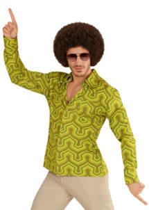chemise disco homme, chemise disco beige, chemise disco, déguisement disco, Chemise Disco, Groovy 70, Wall Paper