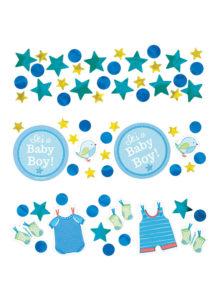 baby showers garçons, décorations baby shower, naissances garçons, confettis de table, Confettis de Table Baby Shower Garçon