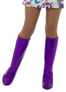 accessoire disco, surbottes disco femme, bottes années 70 femme, déguisement disco femme, bottes disco déguisement femme, Surbottes Disco, Violet Métal