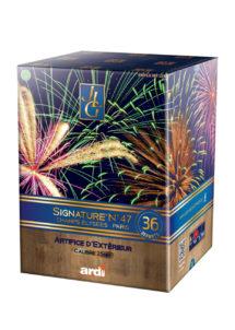 feux d'artifice automatiques, feux d'artifices compacts, feux d'artifice pas cher, feux d'artifices pour particuliers, Feux d'Artifices Compacts, Signature 47