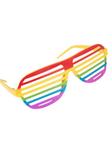 lunettes arc en ciel, accessoire gay pride, gaypride, LGBT, lunettes multicolores, lunettes arc en ciel, accessoire arc en ciel, Lunettes Arc en Ciel