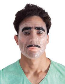 masque transparent, masque halloween, masque visage homme, masque visage adulte, Masque Transparent, Homme à Moustaches