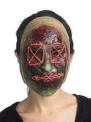 masque de déguisement, accessoire masque déguisement, accessoire masque halloween, accessoire déguisement halloween, masque horreur halloween, accessoire masque horreur, masque latex déguisement, masque de zombie, masque effrayant halloween, masque de monstre halloween Masque d'Horreur Liberty, Phosphorescent