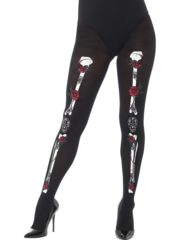collants squelette mexicain, collants squelette jour des morts, accessoire déguisement day of death, déguisement mort mexicaine Collant Squelette Mexicain, Jour des Morts