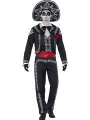 déguisement jour des morts homme, costume jour des morts homme, déguisement mort mexicaine adulte, déguisement halloween homme, déguisement day of death homme Déguisement Jour des Morts Mexicain