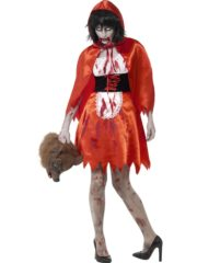 déguisement halloween femme, costume halloween femme, déguisement chaperon rouge halloween femme, déguisement chaperon rouge halloween Déguisement Chaperon Rouge Zombie