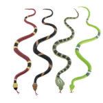 faux serpent cobra, faux serpent halloween, décoration halloween, accessoire halloween déguisement, faux serpent halloween Serpents en Plastique, x 4 modèles colorés