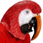 masque de perroquet, masque perroquet en latex, masque animaux, déguisement de perroquet, oiseau accessoire déguisement, soirée à thèmes animaux, masque d'oiseau Masque de Perroquet, Latex