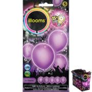 ballons à led, ballons lumineux, ballons fluos, ballons de baudruche, ballons hélium, ballons anniversaires, ballons lumineux Ballon à LED, Parme, X 5