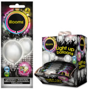 ballons à led, ballons lumineux, ballons fluos, ballons de baudruche, ballons hélium, ballons anniversaires, ballons lumineux Ballon à LED, Argent, X 2