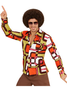 chemise disco homme, chemise disco beige, chemise disco, déguisement disco, Chemise Disco, Groovy 70, Tubes