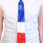 supporters france, cravate drapeau france, accessoires france, accessoires 14 juillet, cravate drapeau, accessoires français déguisement Cravate France