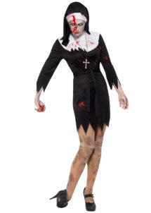 déguisement bonne soeur halloween, déguisement nonne halloween, déguisement femme halloween, costume femme halloween, déguisement halloween femme, Déguisement de Bonne Soeur, Nonne Zombie