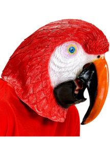 masque de perroquet, masque perroquet en latex, masque animaux, déguisement de perroquet, oiseau accessoire déguisement, soirée à thèmes animaux, masque d'oiseau, Masque de Perroquet, Latex