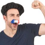 moustache équipe de france, accessoires de supporter,France, accessoires équipe de france, accessoire 14 juillet, tricolore, moustache drapeau france, moustache tricolore, bleu blanc rouge Moustache de Supporter 2, France