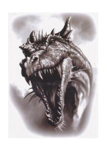 faux tatouage, tatouage temporaire, tatouage dragon, Tatouages Temporaires, Dinosaure Dragon