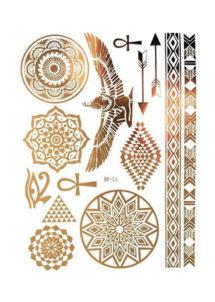 faux tatouages, faux tatouages dorés, tatouages éphémères, tatouages cléopatre, tatouages égyptiens, Tatouages Temporaires, Egypte Antique
