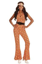 déguisement disco, combinaison disco, déguisement années 70, combinaison pattes d'éléphant, combinaison années 70 déguisement, costume disco femme, combinaison pattes d'eph femme, combinaison disco Déguisement Disco, Combinaison Groovy Rhombus