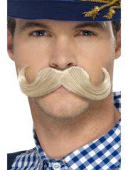fausse moustache, postiche, moustache blonde, moustache de bavarois, moustache oktoberfest, fausses moustaches, moustache de déguisement Moustache de Bavarois, Blonde