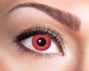 lentilles rouges, lentilles halloween, lentilles fantaisie, lentilles déguisement, lentilles déguisement halloween, lentilles de couleur, lentilles fete, lentilles de contact déguisement, lentilles de diable Lentilles Rouges, Electro Red
