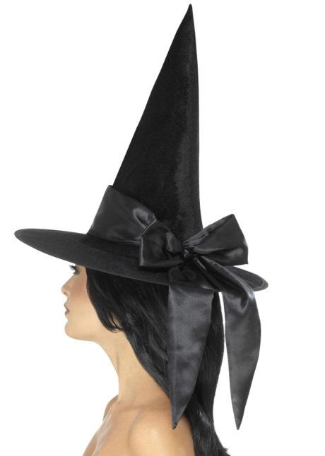 chapeaux halloween, chapeaux de sorcière, accessoires sorcières, déguisement de sorcière, chapeaux de sorcellerie, chapeau de sorcière pour halloween, beau chapeau de sorcière, Chapeau de Sorcière, Noeud Satin Noir
