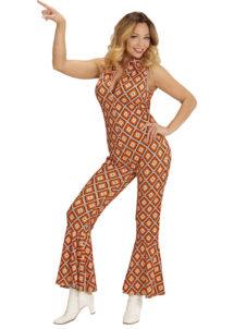 déguisement disco, combinaison disco, déguisement années 70, combinaison pattes d'éléphant, combinaison années 70 déguisement, costume disco femme, combinaison pattes d'eph femme, combinaison disco, Déguisement Disco, Combinaison Groovy Rhombus