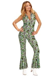 déguisement disco, combinaison disco, déguisement années 70, combinaison pattes d'éléphant, combinaison années 70 déguisement, costume disco femme, combinaison pattes d'eph femme, combinaison disco, Déguisement Disco, Combinaison Groovy Waves