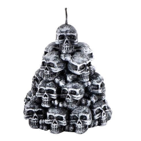 bougie halloween, décorations halloween, bougies faux crânes, chandeliers halloween, décoration pas cher halloween Bougie Halloween, Amoncellement de Crânes