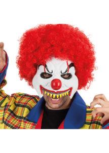 masque halloween, masque clown halloween, accessoire masque clown horreur, masque latex déguisement, masque clown diabolique, masque clown halloween, masque clown maléfique, Demi Masque de Clown Dents Pointues